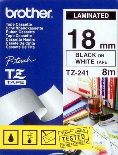 brother Schriftbandkassette TZ-241, 18 mm x 8 m, laminiert