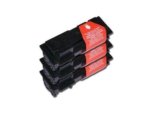 Toner-Set: 3 x schwarz, alternativ zu Kyocera TK-50h