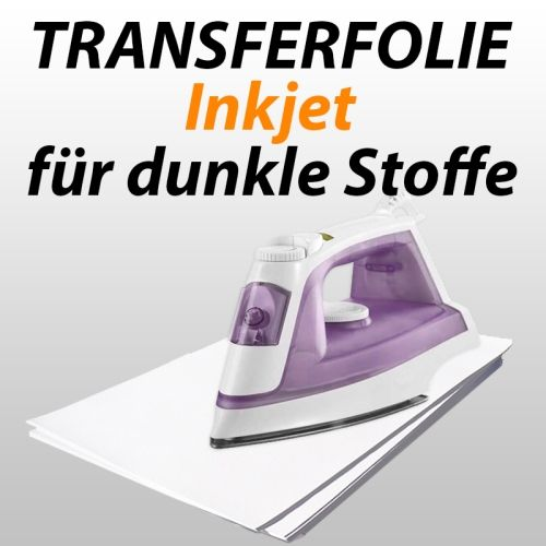 Inkjet-Transferfolie f. dunkle Textilien, 10 Blatt
