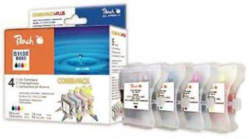 Peach Combi Pack kompatibel zu LC-1100, je 1 x bk, c, m, y