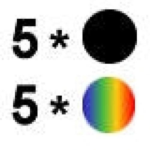 Aktion: 5 mal Farbe + 5 mal Schwarz ES017/018-10