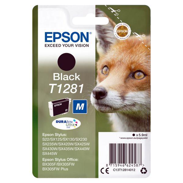 Originalpatrone Epson T128140, schwarz   EO-TP1281