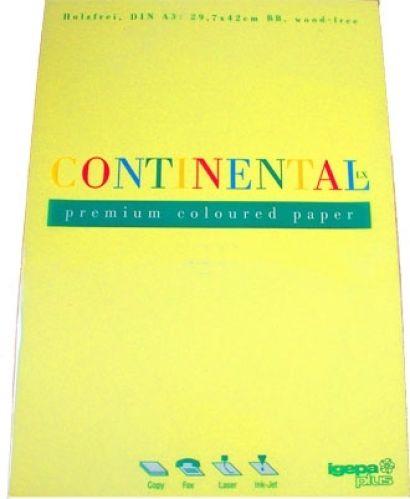 80g A3-Papier Kanariengelb, 500 Blatt