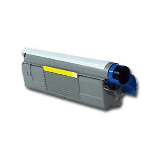 Toner OLC5800Y, yellow, Rebuild für Oki-Drucker, ersetzt 4332442